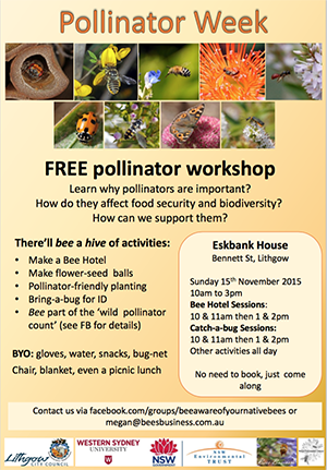 Pollination Week Poster